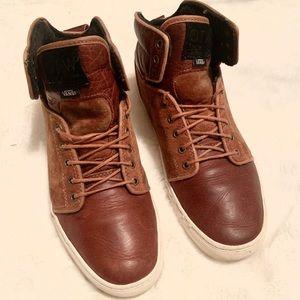 Vans Alomar high top leather sneakers